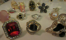 Wholesale Lot 12 Rings Fashion Mixed Cocktail Rhinestone Crystal Pearls Mix NWT