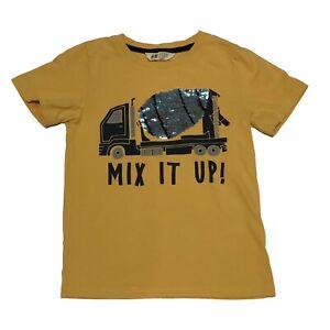 H&M 6-8 Years Boys Sequin Flip Flippy T-Shirt Cement Mixer Truck Construction