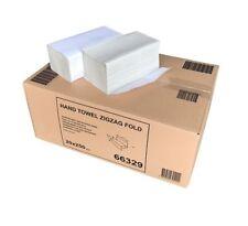 5000 Stück SCA Tork Handtuchpapier, 1-lagig, 25x23cm, ZickZack, H3, Natur, 66329