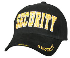 hat security cap black ballcap gold embroidery rothco 9490