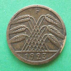 1923F Germany 5 Rentenpfennig SNo50998