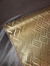 "1 mtr gold metallic retro swirls banarsi brocade fabric..45""wide"