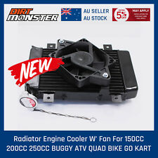 Water Cooling Thermo Radiator + Cooling Fan 12V Quad Dune ATV Buggy 200cc 250cc