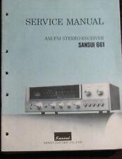 Sansui 661 receiver service repair workshop manual (original copy)