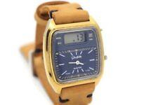 Vintage Gold Glashütte Duoquartz 04-01 -Hybrid Analog & LCD Watch - East Germany
