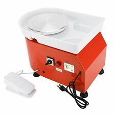 Foot Pedal Detachable Basin Orange 25Cm Pottery Wheel 110V Ceramic Work Forming