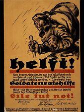 ART PRINT POSTER Pubblicità GUERRA WWI Germania veterano feriti Berlino nofl1581