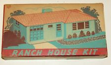 Vintage O scale Ranch House Kit for Model Train Layouts & Display - Plasticville