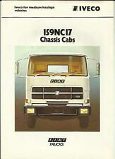 IVECO FIAT 159NC17 CHASSIS CAB  TRUCK LORRY 1978 1979 SALES  BROCHURE