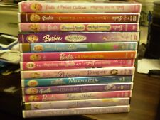 (13) Barbie Children's Girls DVD Lot: (2) Christmas Mermaid Tale Sing-Along MORE