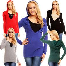Damen-Pullover & -Strickware mit V-Ausschnitt aus Mischgewebe Normalgröße