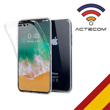 ACTECOM® FUNDA 360 DOBLE GEL SILICONA TRANSPARENTE PARA IPHONE X CARCASA PROTECT