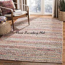 Indian Handmade Decorative Jute Cotton Carpet 4 x 6 Ft Braided Floor Mat Rag Rug