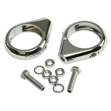 HardDrive Turn Signal Clamps 49mm (Chrome) Pair
