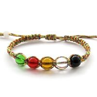 Hand Knitted Acrylic Beads Multi-Color Cord Bracelet