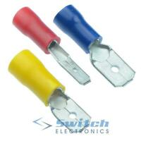 Male Insulated Crimp Connector Spade Electrical Connectors Terminals Terminal