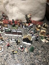 Huge Lot of Christmas Figurines for Villages Accessories