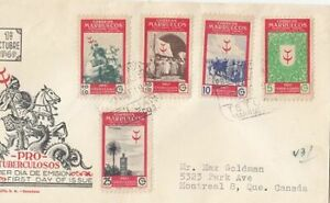 Spanish Morocco Scott 277-8 & B25-6 FDC - 1949 Tuberculosis Issue