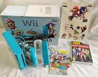 BOXED Nintendo Wii Blue Console Bundle Mario & Sonic London 2012 Olympic Games