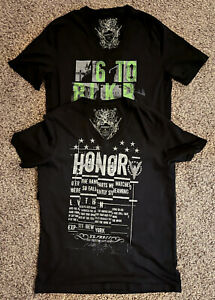 2 EXPRESS Men's V-Neck Vintage Graphic T-Shirts - Color Black, Size Medium