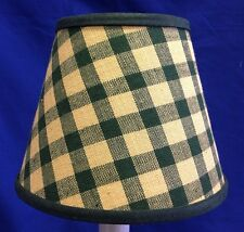 Dk Green and Ivory Homespun  Chandelier / Electric Candle lampshade lamp shade