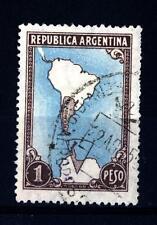 ARGENTINA - 1951 - Mappa, con delimitazione della zona Antartide argentina