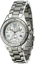 GANT PACIFIC WATCH MEN´S SILVER ETA CHRONOGRAPH SWISS MADE STEEL DATE 100 METER