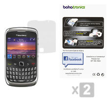 2 Pack BlackBerry Curve 3G 8520 9300 Two Ultra Clear Premium Screen Protectors