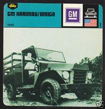 1972 GM HARIMAU / AMIGO USA War Army Jeep Picture CARD