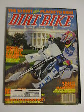 April 1992 DIRT BIKE Magazine motocross moto x racer action mx