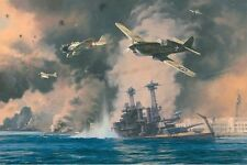 DAY OF INFAMY - PEARL HARBOR - Anthony Saunders - S/N WWII PRINT L/E