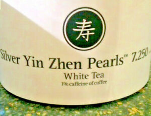 NEW! 🍵 VERY RARE! TEAVANA SILVER YIN ZHEN PEARLS 2OZ SEALED GRAY BAG ✌️