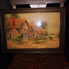Vintage Impressionist Painting-SUMMER COTTAGE-Listed Artist Ernest T Potter 1900