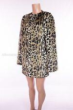 SAVE THE QUEEN New Leopard Print Faux Fur Jacket M Medium Coat NWOT