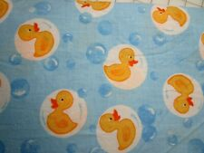 2000 Fabrics by Spectrix  Rubber Duckies on blue background 100% Cotton  BTHY