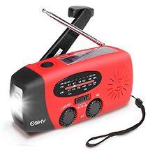 Esky Solar Hand Crank Self Powered Emergency Radio with LED Flashlight an...