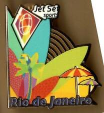 RIO 2016. OLYMPIC GAMES. OLYMPIC SPONSOR PIN. JETSET. SURF BOARD, UMBRELLA, TREE