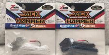 (2) Z-Man Jack Hammer 3/8oz Tungsten Chatterbaits White & Black/Blue 918