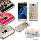 Flower Lace Rubber Silicone TPU Hard Case Thin Cover For Samsung GALAXY S7 /EDGE