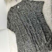 Motherhood Maternity womens sweater cardigan PLUS SIZE 2X long fit S/S (A1)