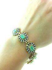Turkish Handmade Jewelry Victorian Style Silver Woman Bracelets Swarovski Opal