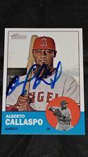 2012 Topps Heritage #249 Alberto Callaspo Auto Baseball Card