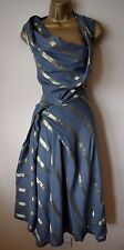 VIVIENNE WESTWOOD 40 STUNNING APRON FISH DRAPED HITCHED WEDDING RACES DRESS