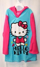 NEW HELLO KITTY GIRLS SIZE 12 NIGHT GOWN NIGHTGOWN WARM SLEEP WEAR W HOOD SOCUTE