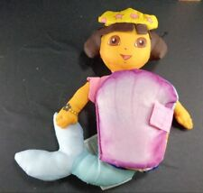 Dora The Explorer Mermaid Story Book Seashell Plush Stuffed Toy Doll 8""