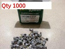 Job Lot Qty 1000 Tower 70CGKF15 1.5mm GREY Twin & Earth Cable Clips P&P INCL