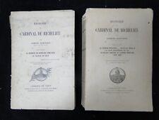 LIVRES HISTOIRE DU CARDINAL DE RICHELIEU GABRIEL HANOTAUX ED FIRMIN DIDOT B1611