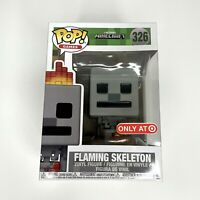 Funko Pop! Minecraft: Flaming Skeleton Vinyl Toy Figure #326 Target Exclusive