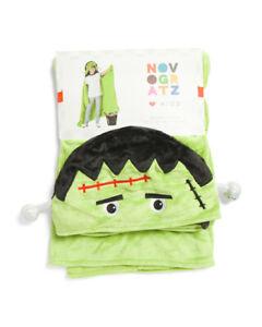 "Kids Frankenstein Hooded Soft Fleece Throw Blanket 39"" x 60"""