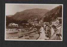 Lynmouth, Summer House Hill. 1927.  Vintage RP Postcard zd22